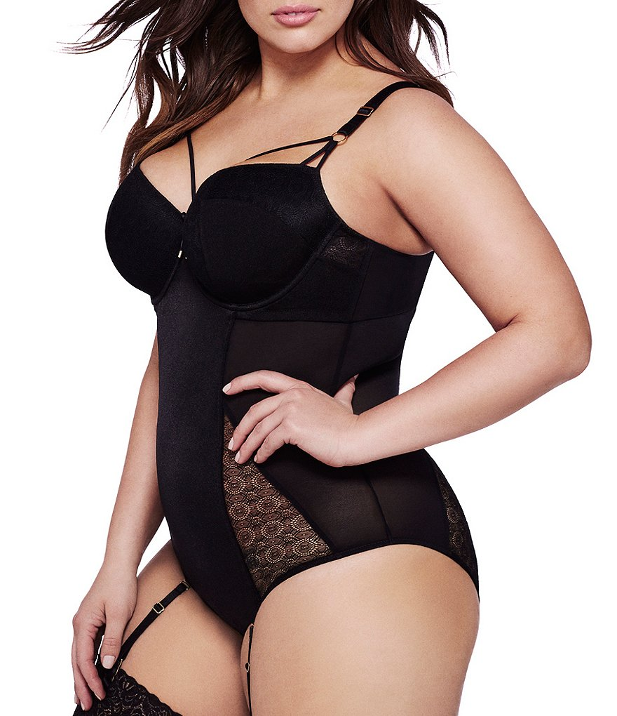 Ashley Graham Essential Geometric Mesh Bodysuit