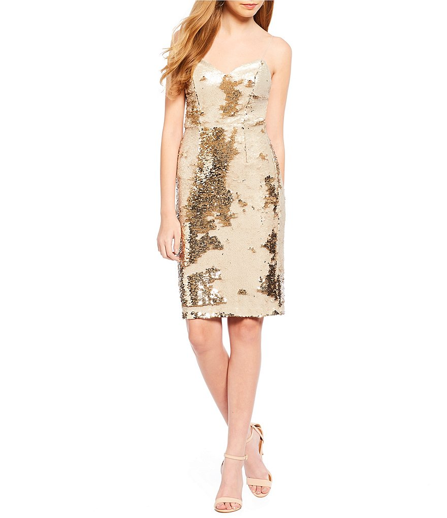 ASTR the Label Franesca Sequin Sweetheart Mini Dress