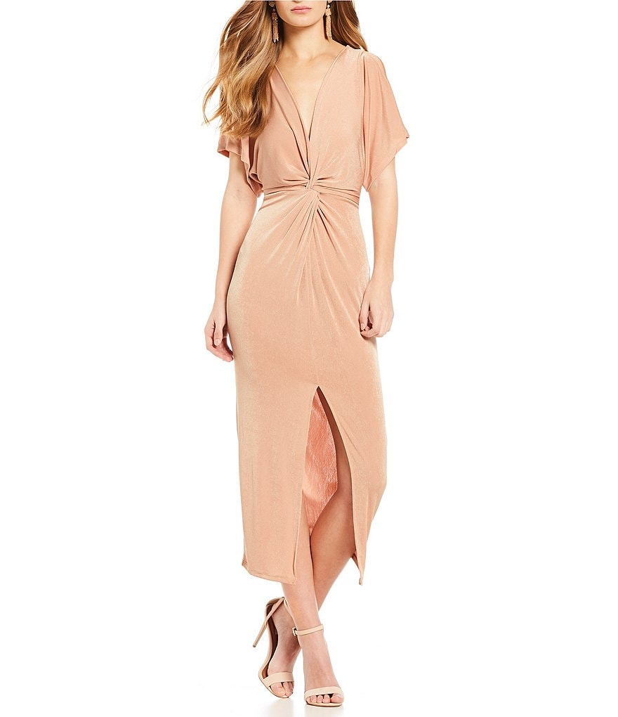 ASTR the Label Kiera Faux Wrap Dress
