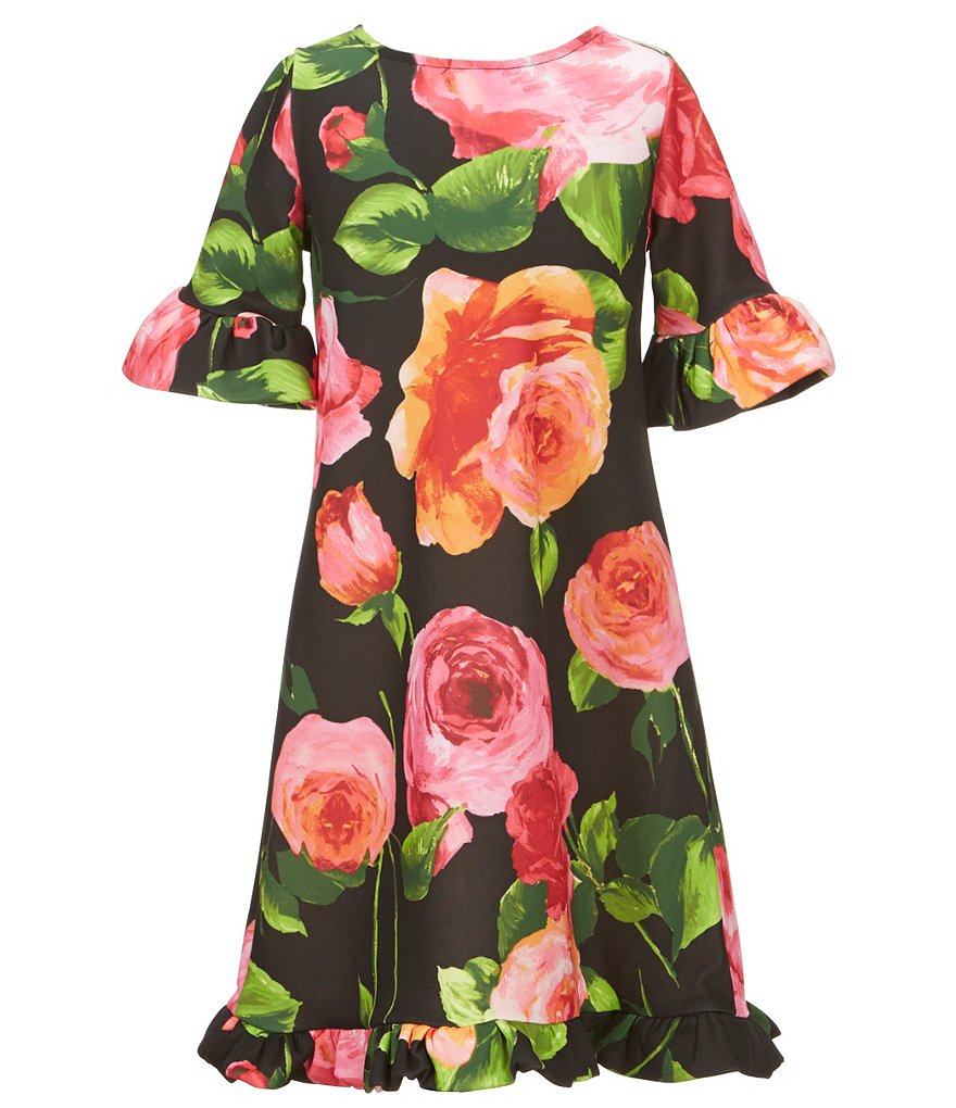 Ava & Yelly Big Girls 7-16 Floral-Print A-Line Dress