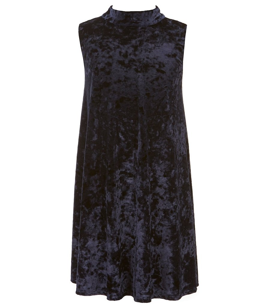 Ava & Yelly Big Girls 7-16 Mock-Neck Crushed Velvet Dress