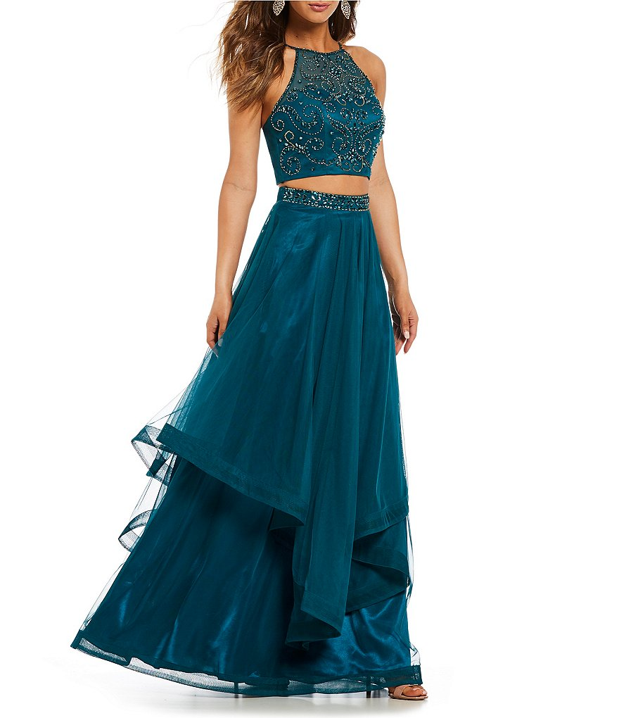 B. Darlin Beaded Top Two-Piece Ball Gown