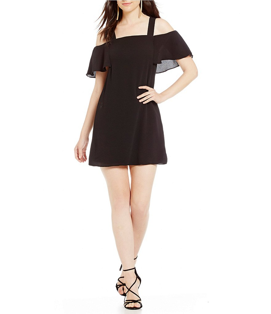 B. Darlin Cold-Shoulder Shift Dress