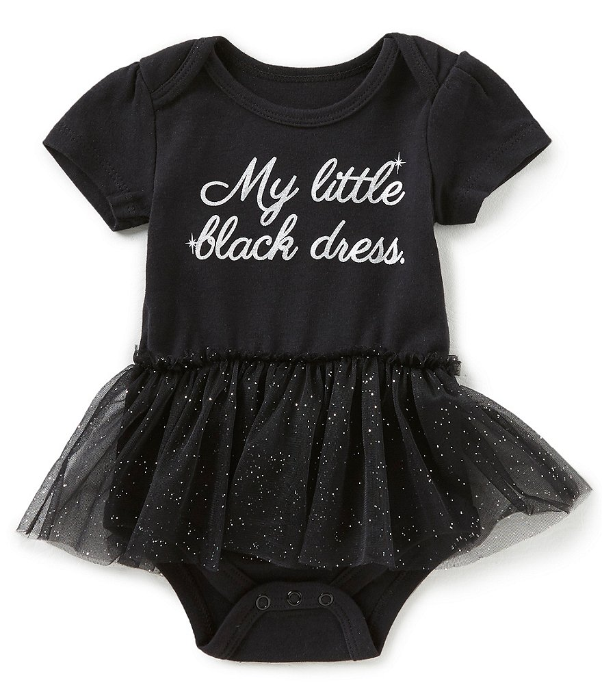 Baby Starters Baby Girls 3-12 Months Little Black Dress Tutu Bodysuit