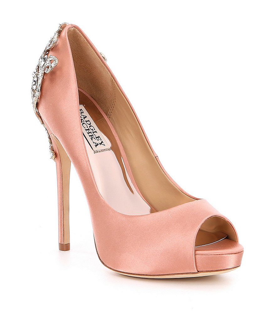 Badgley Mischka Karolina Peep Toe Pumps