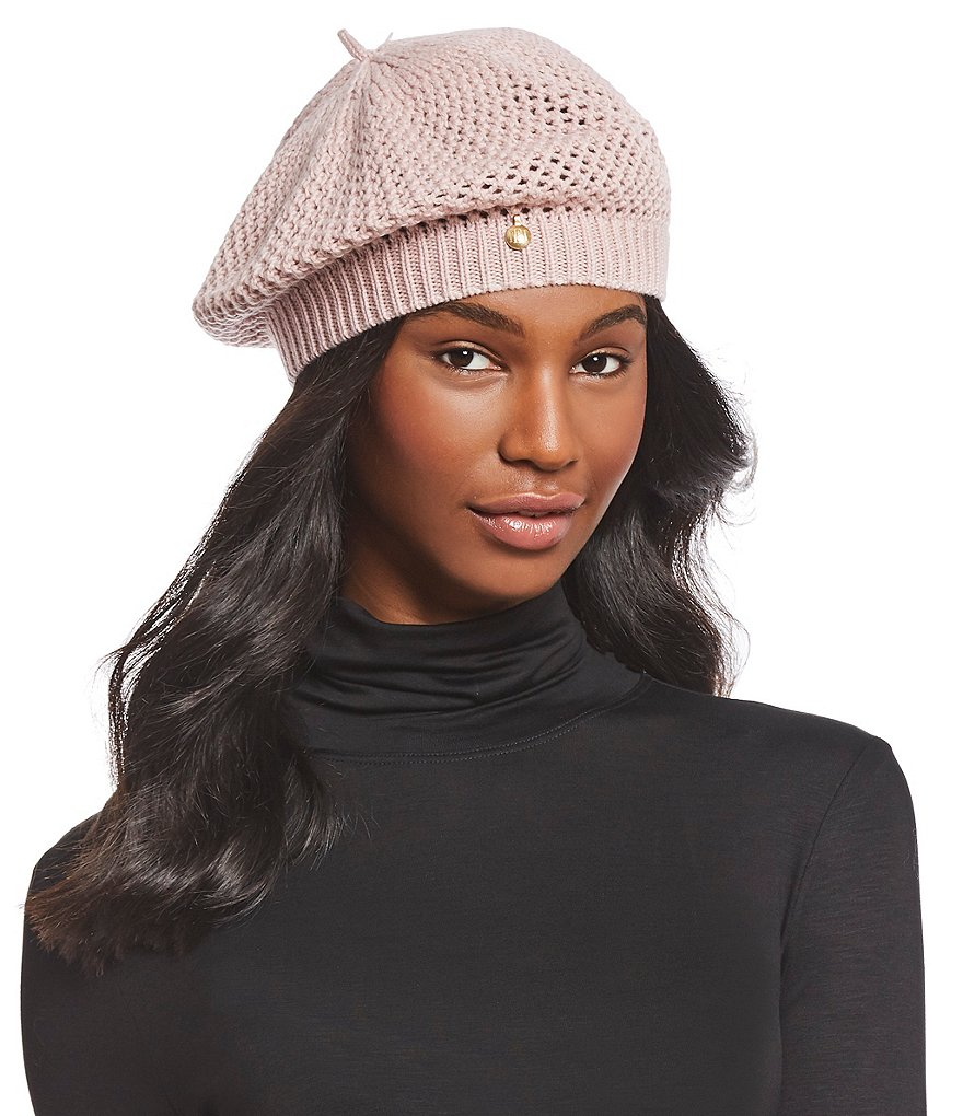 Badgley Mischka Ladies' Deco-Stitch Knit Beret