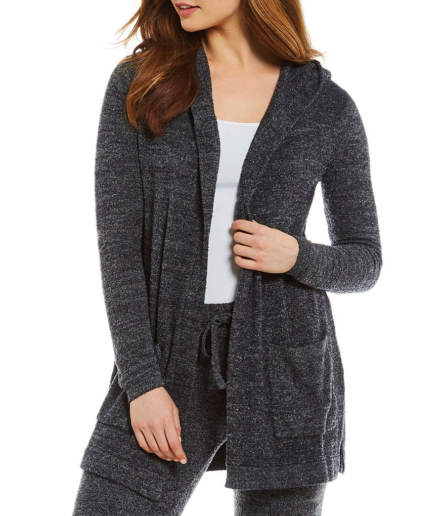 Barefoot Dreams Cozychic Lite Resort Hooded Lounge Cardigan