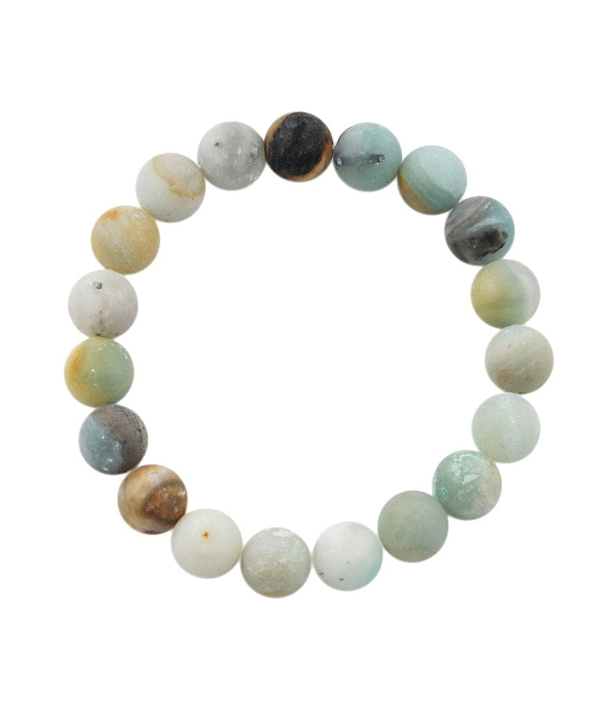 Barse Matte Amazonite Bead Stretch Bracelet
