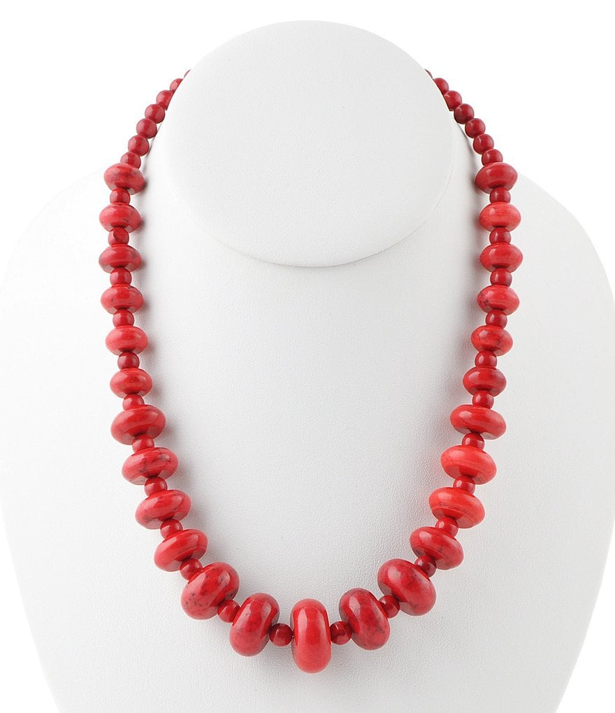 Barse Red Sea Bamboo Collar Necklace