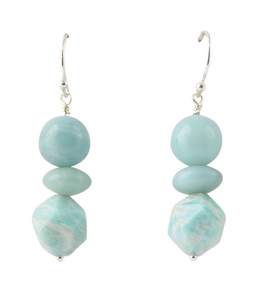 Barse Sterling Silver & Amazonite Drop Earrings