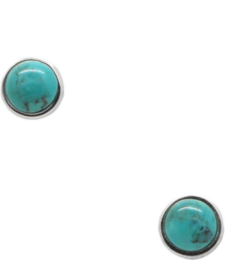 Barse Sterling Silver and Turquoise Stud Earrings