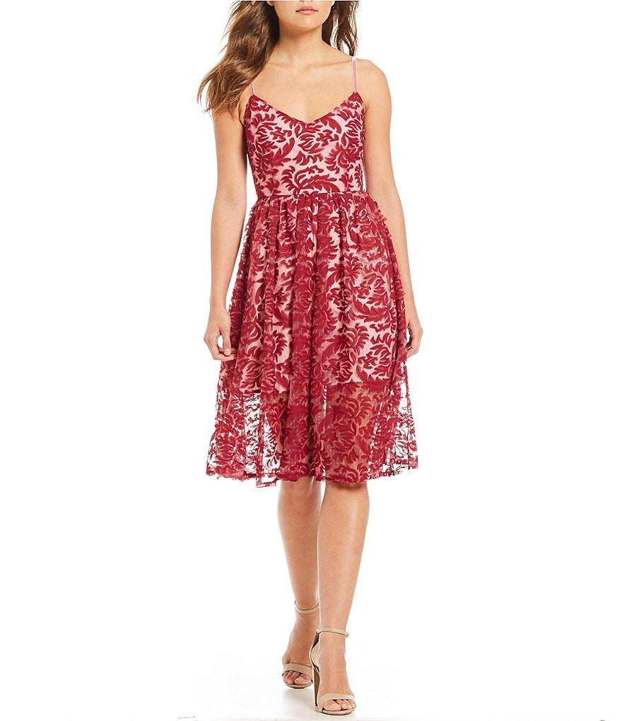 BB Dakota Candler Novelty Applique Fit and Flare Dress