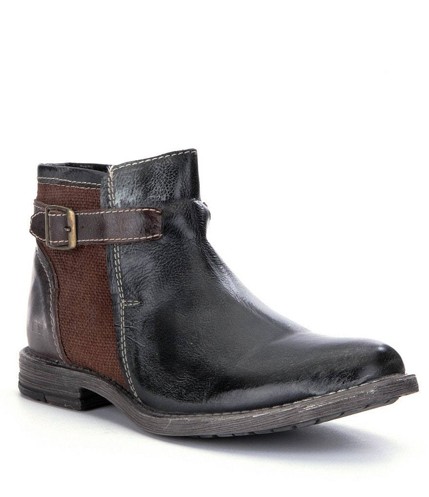Bed Stu Johnston Casual Side Buckle Detail Mid Boots