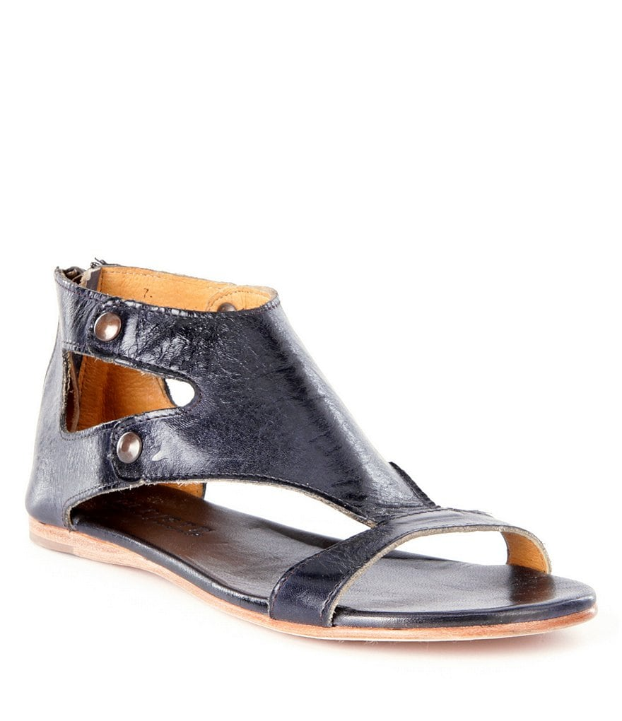 Bed Stu Soto Studded Leather Flat Sandals