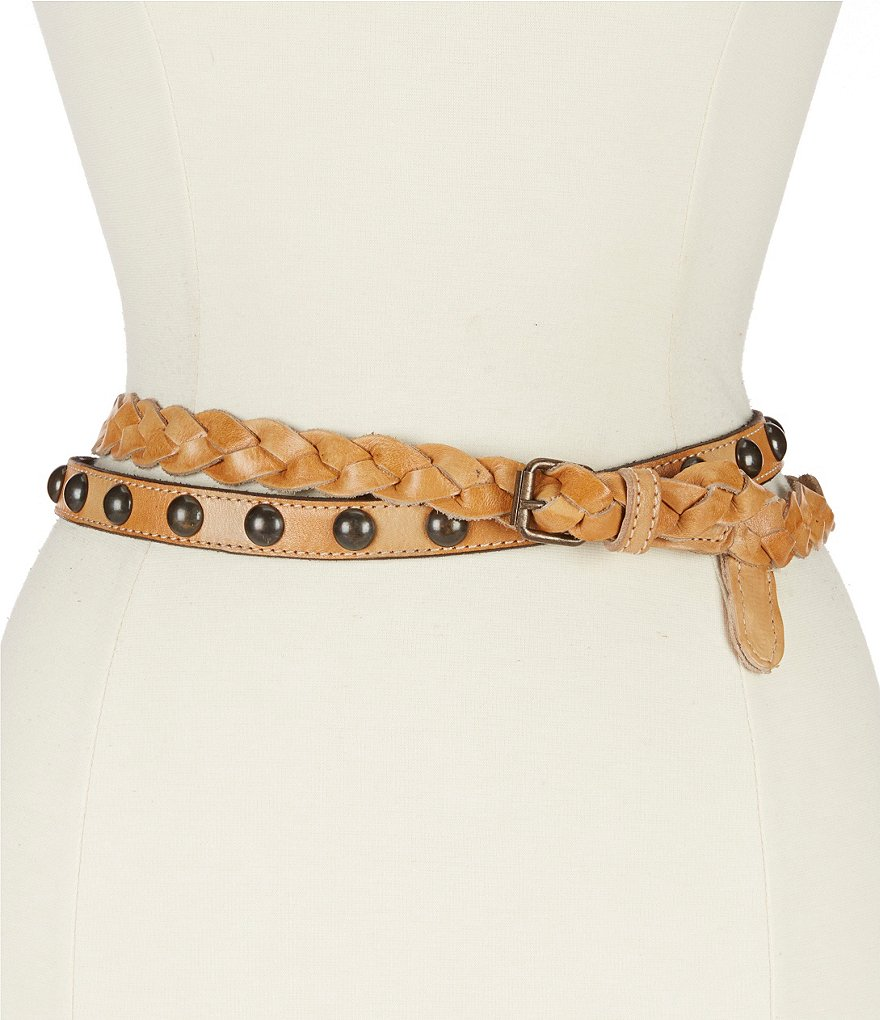 Bed Stu Spark Braided Leather Belt