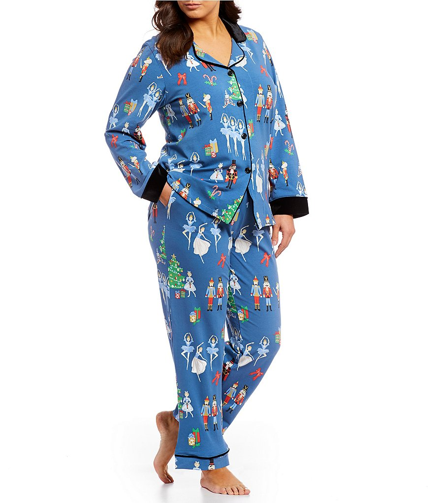 BedHead Plus Nutcracker Classic Knit Pajamas