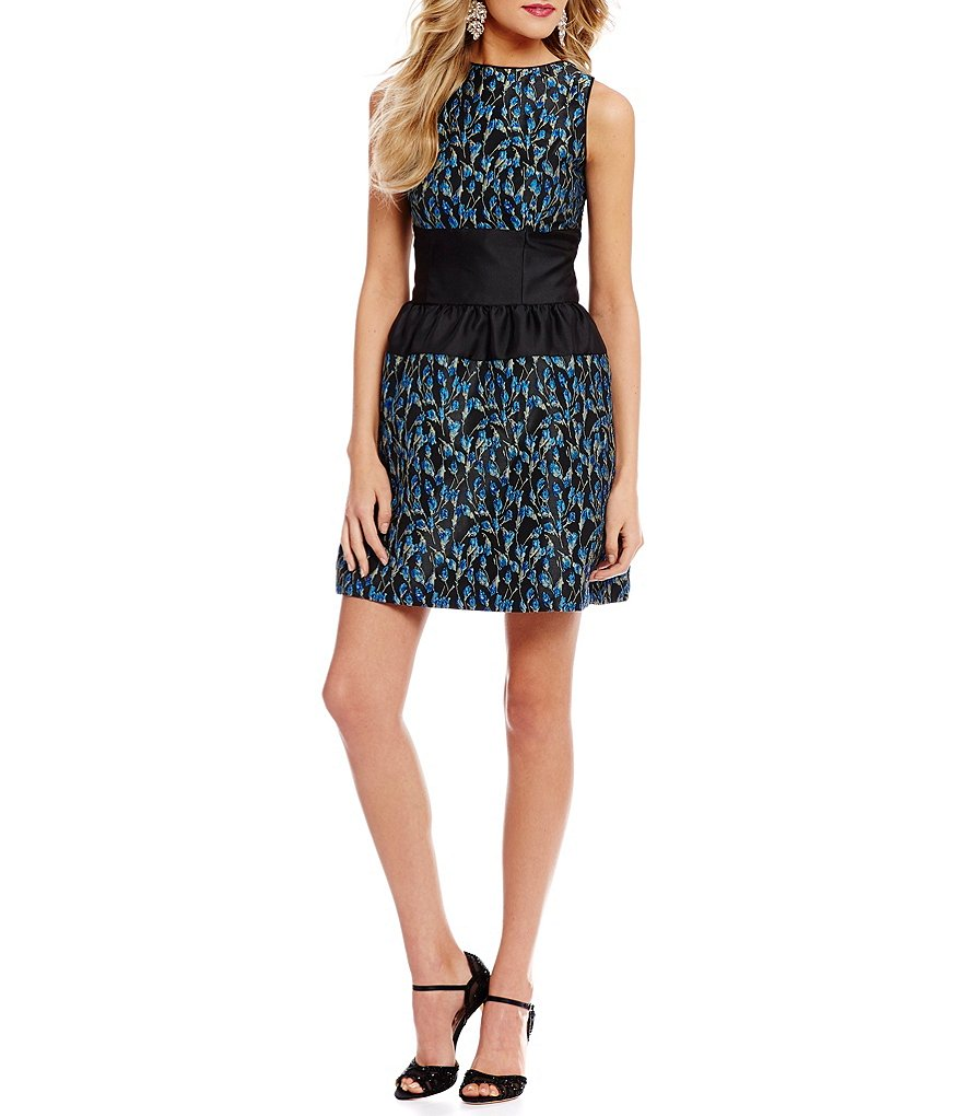 Belle Badgley Mischka Brocade Vivian Dress