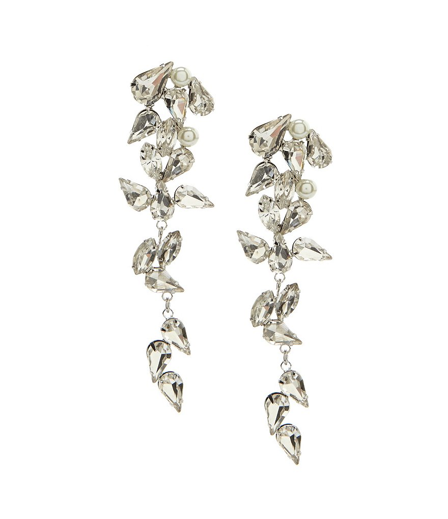 Belle Badgley Mischka Faux-Crystal Cascade Statement Earrings