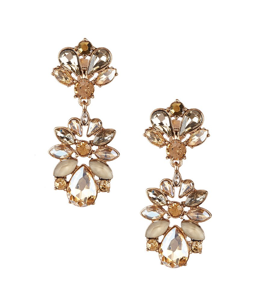 Belle Badgley Mischka Glitzy Teardrop Earrings