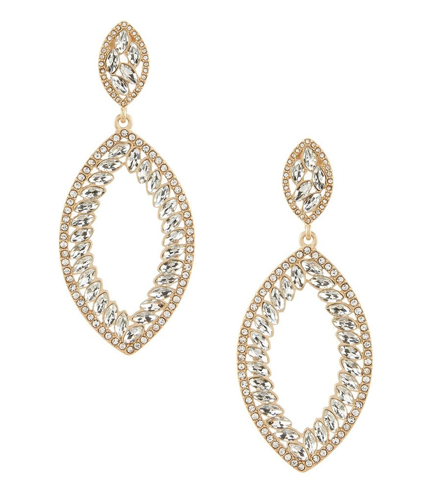 Belle Badgley Mischka Open Multi Navette Drop Pavé Statement Earrings