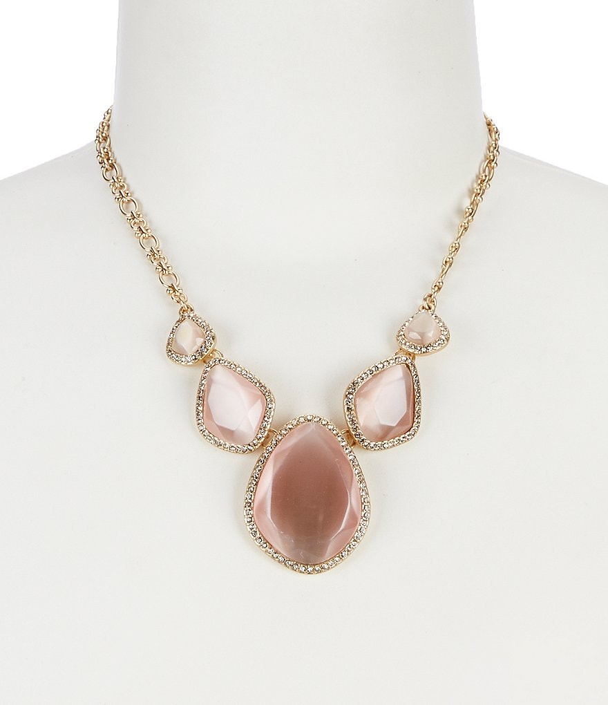 Belle Badgley Mischka Pavé Multi Stone Collar Statement Necklace