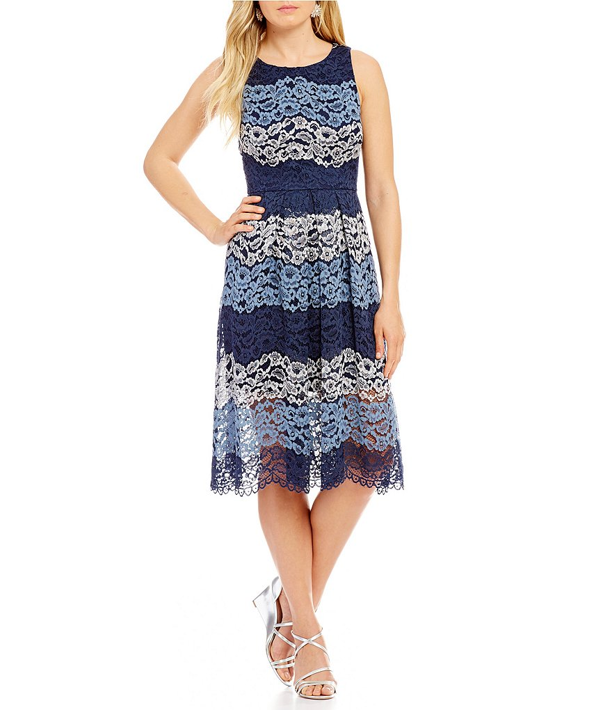 Belle Badgley Mischka Roxy Lace Dress