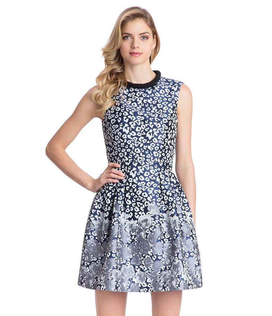 Belle Badgley Mischka Talya Fit-and-Flare Dress