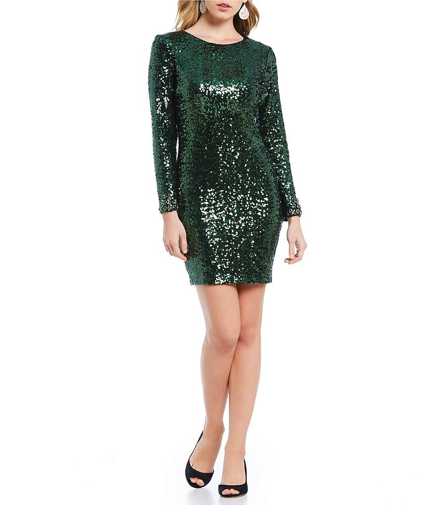 Belle Badgley Mischka Walele Sequin Cocktail Dress