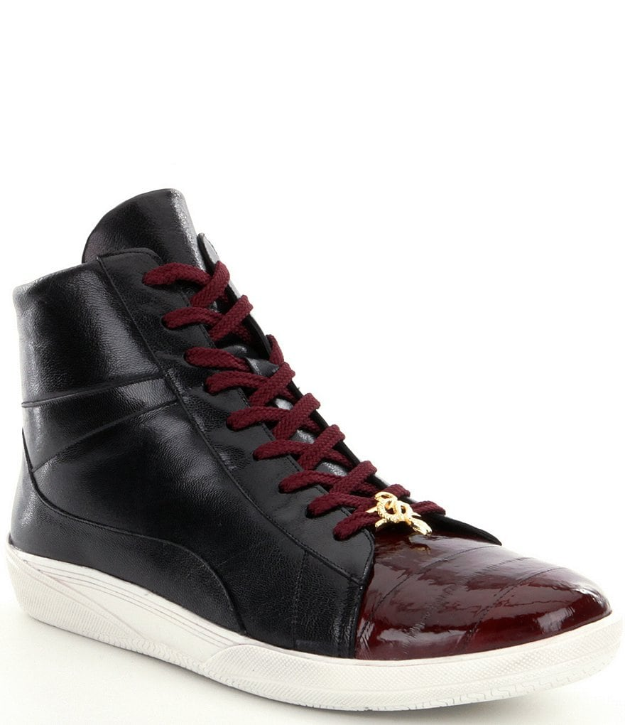 Belvedere Men's Vitale Eel and Leather Sneakers