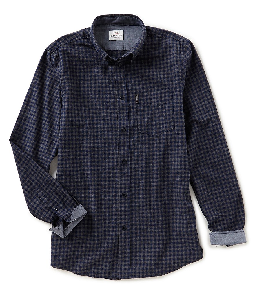Ben Sherman Long-Sleeve Mini Check Shirt