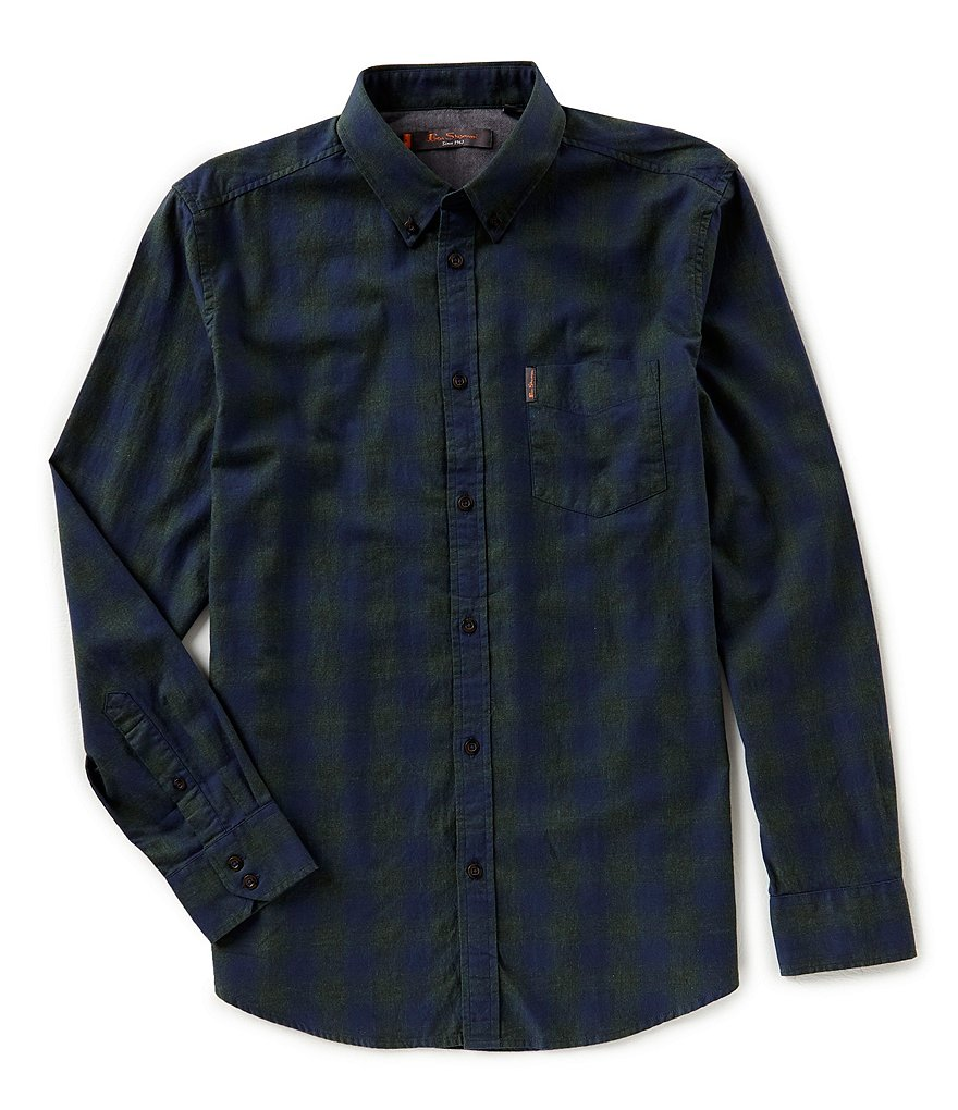 Ben Sherman Long-Sleeve Ombre Check Shirt