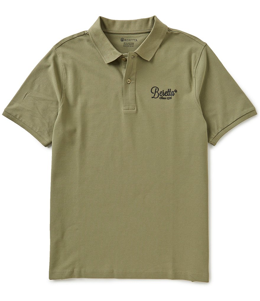 Beretta Classic Short-Sleeve Solid Polo Shirt
