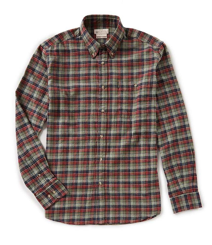 Beretta Flannel Check Long-Sleeve Woven Shirt