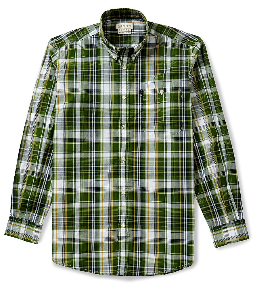 Beretta Tom Long-Sleeve Plaid Woven Shirt
