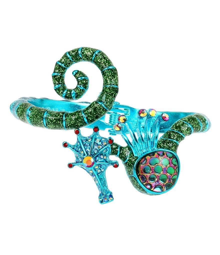 Betsey Johnson Blue Seahorse Bangle Bracelet