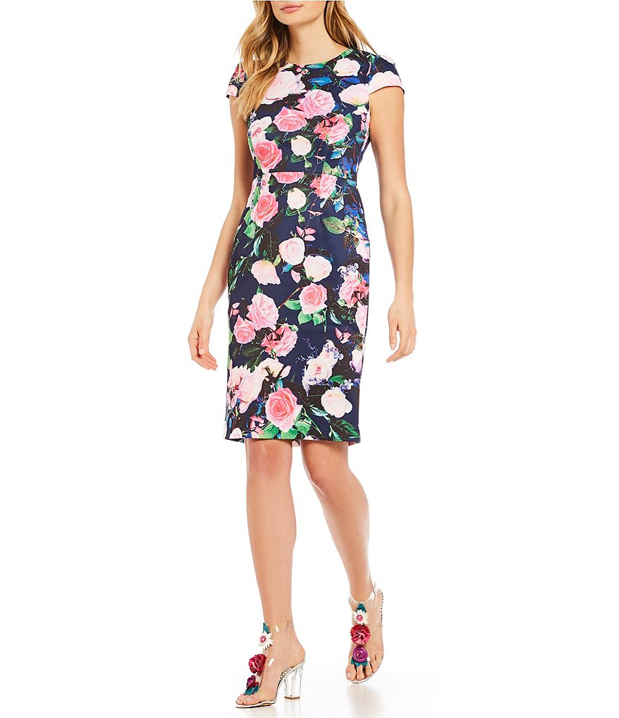 Betsey Johnson Floral Print Scuba Dress