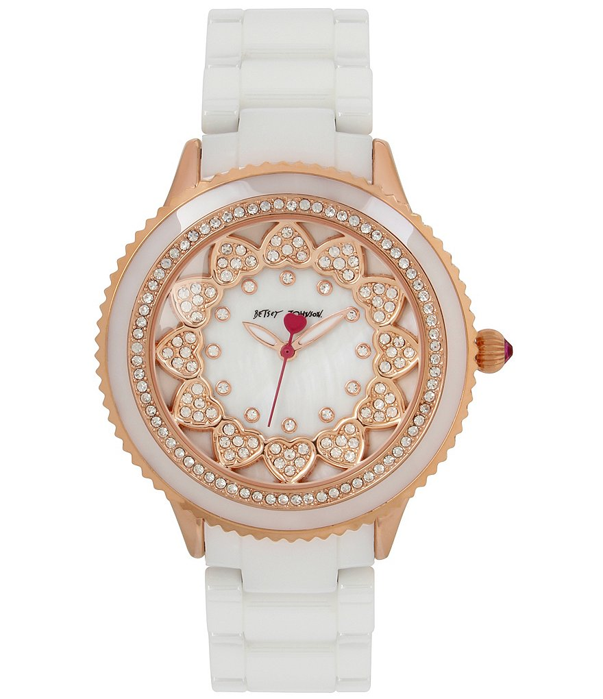 Betsey Johnson Layered Heart Analog Bracelet Watch