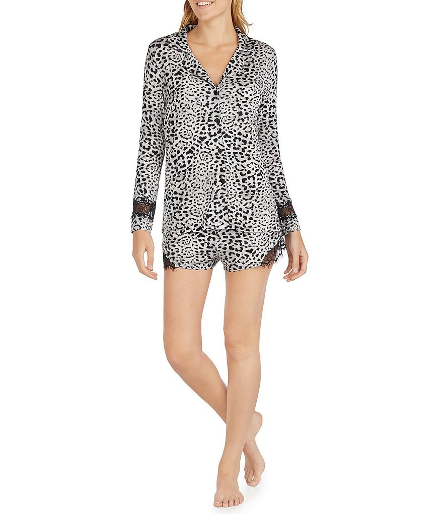 Betsey Johnson Leopard & Lace Pajamas