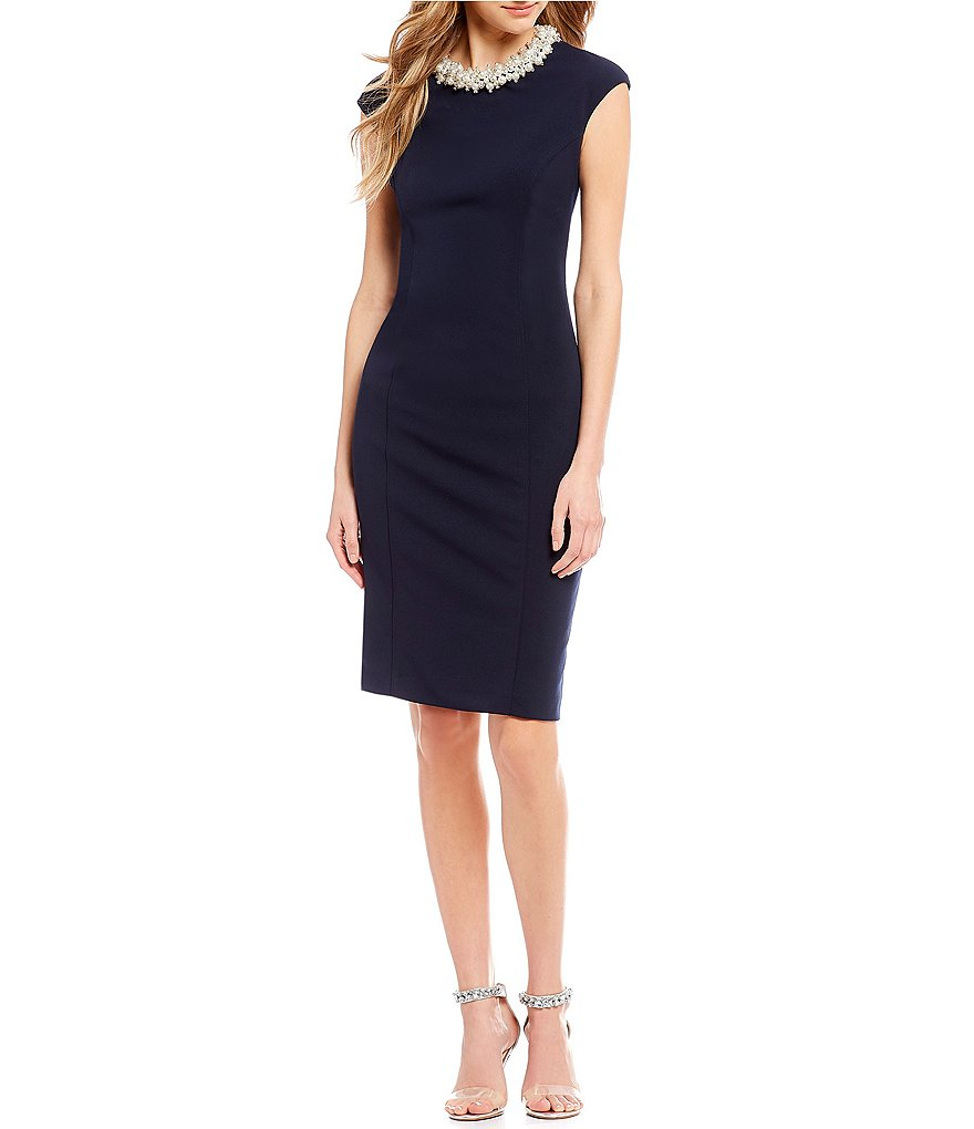 Betsey Johnson Pearl Necklace Sheath Dress