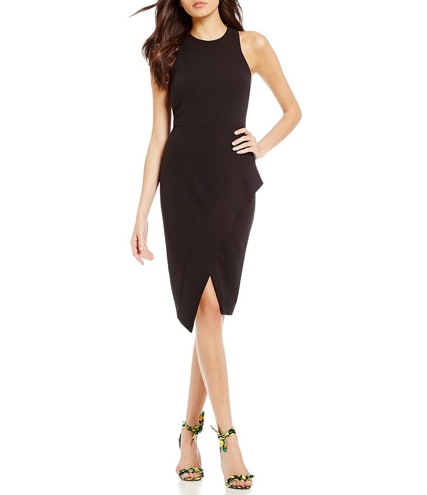 Betsey Johnson Ruffle Midi Sheath Dress