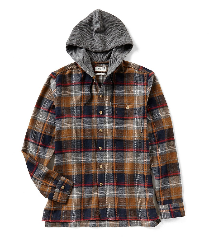 Billabong Baja Flannel Long-Sleeve Hooded Shirt