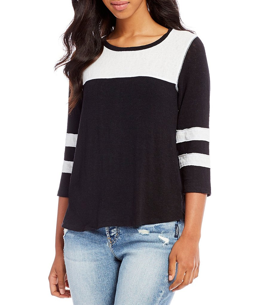 Billabong My Own Colorblock Baseball Tee