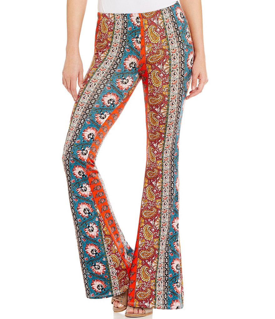 Billabong Right Places Printed Stretch Knit Flare Pants