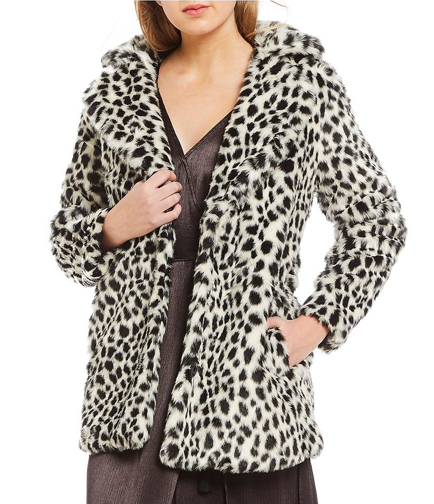 Billabong Wild One Faux -Fur Cheetah Jacket