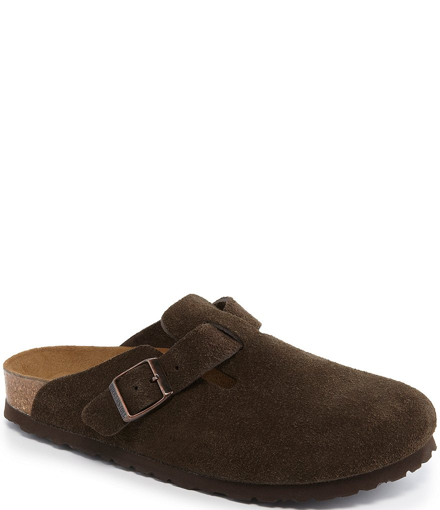 Women's Boston Suede Soft Footbed Clogs zCJubmd