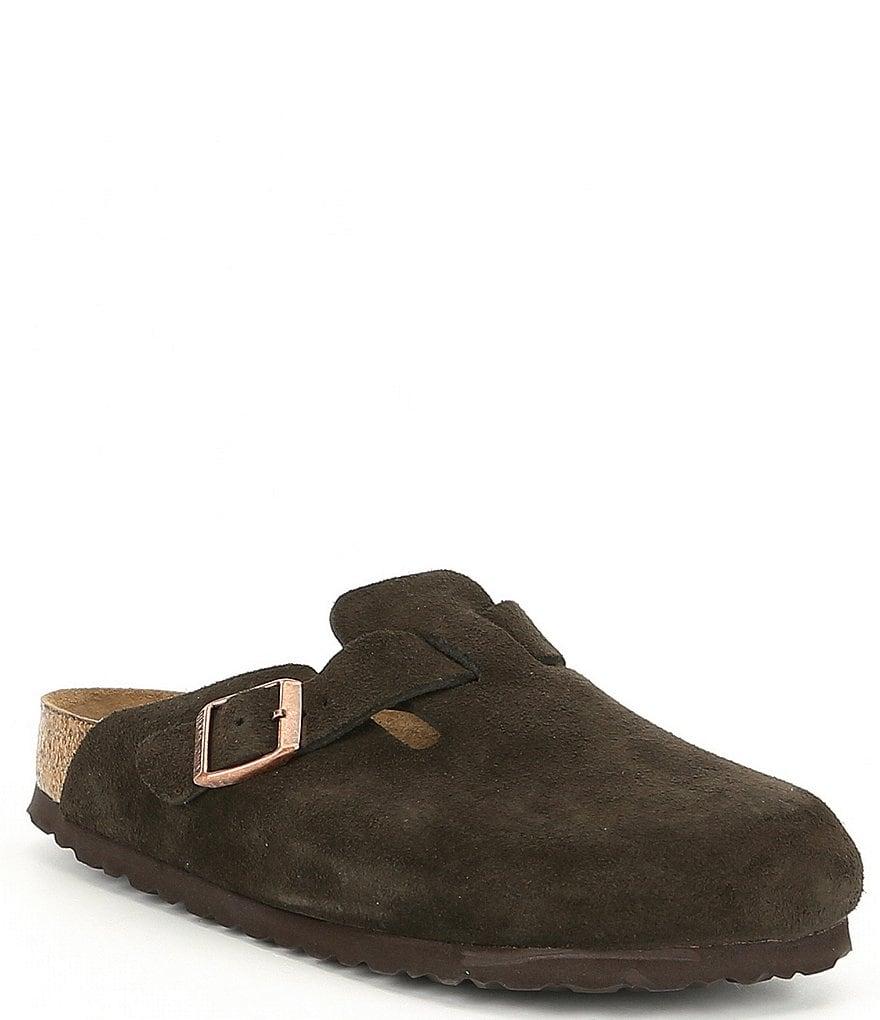 Birkenstock Women's Boston Suede Soft Footbed Clogs