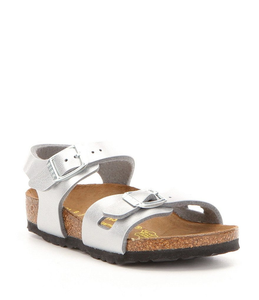 Birkenstock Girls' Rio Metallic Double Buckle Banded Sandals