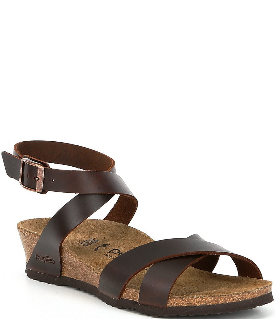 Birkenstock Lola Ankle Wrap Strap Wedge Sandals