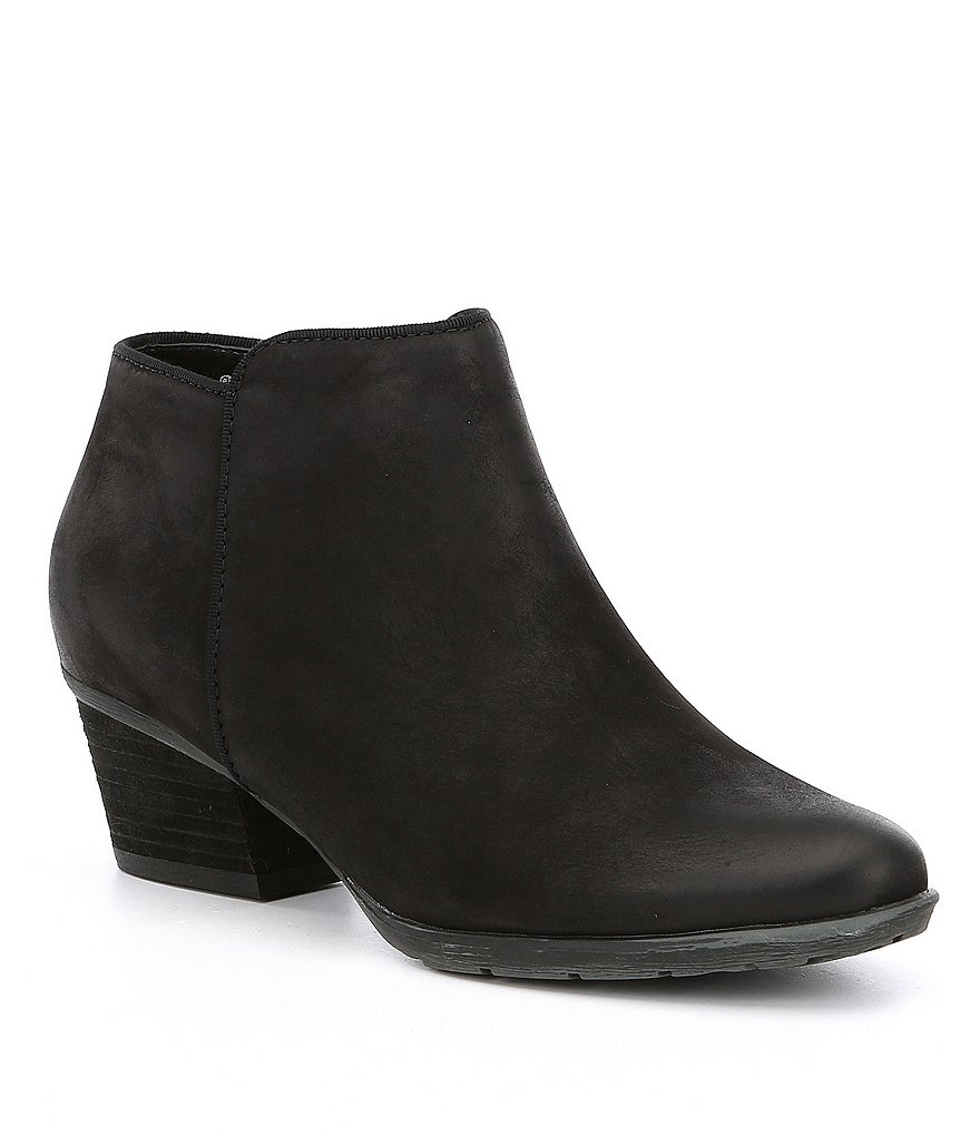 Blondo Waterproof Villa Leather Block Heel Booties