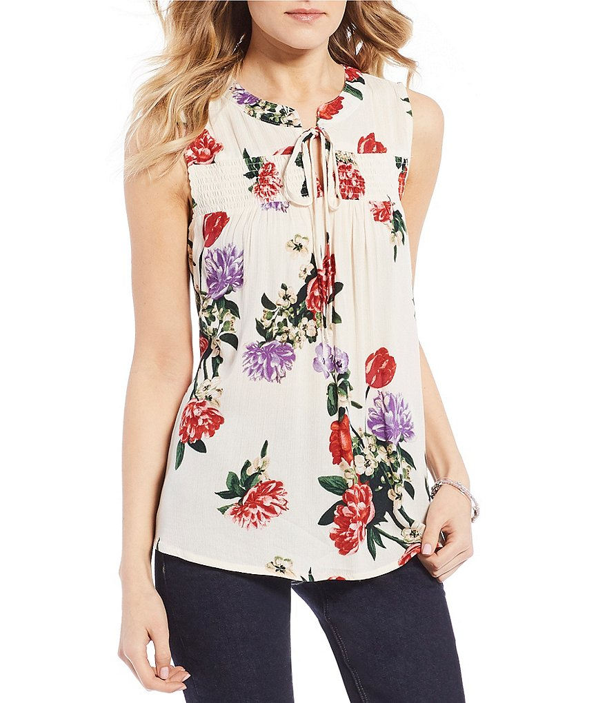 Blu Pepper Floral Print Top